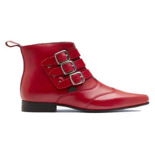 Underground blitz Boots femmes avec 3 sangles - rouge