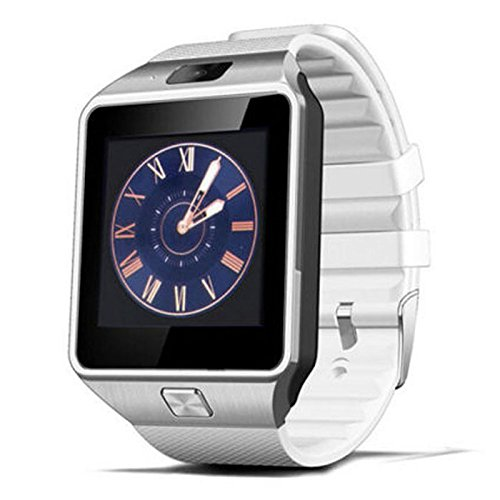 156-TFT-LCD-Touch-Screen-Smart-Watch-Ruber-Stainless-Steel-Bluetooth-30-Sports-Wristwatch-Phone-Bandled-Anti-loss-Technology-Support-Video-Recording-Android-43-and-up-Smart-Phones-White