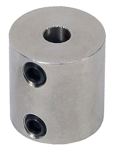12mm to 5mm Stainless Steel Set Screw Shaft Coupler ServoCity 625240