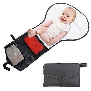 Viajes cambiador con almacenamiento. portátil, pequeño, ligero y compacto. Para toallitas para bebé, Pañales, bolsas, Sudocrem crema: Amazon.es: Bebé