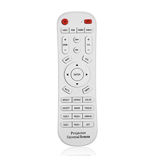 Vbestlife Control Remoto de TV, Reemplazo del Controlador de Control Remoto Universal para proyector, TV, STB (TDT/Satélite/Cable), BLU-Ray/DVD, ...