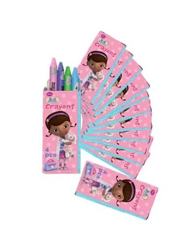 Doc McStuffins Party Favor Boxed Crayons - 12