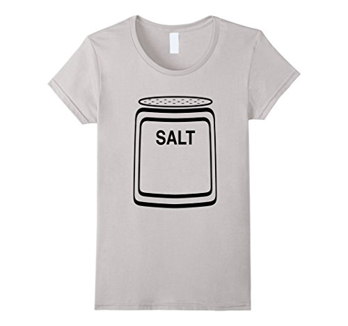 Halloween Simple Costumes Couples (Womens Salt Shaker Halloween Costume T-Shirt for Couples Large)