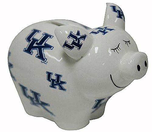 NCAA Kentucky Wildcats Piggy Bank with All Over Logo