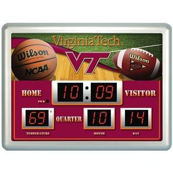 NCAA Virginia Tech Hokies - Tech Clock Neon