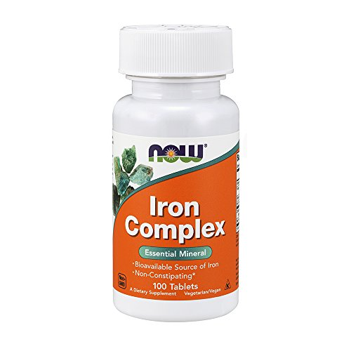 Now Supplements, Iron Complex, 100 Vegetarian Tablets