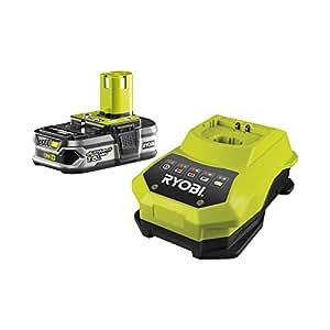 Ryobi RBC18L15 - Pack cargador 1 h + 1 Batería Lítio-Ion 18V 1,5Ah