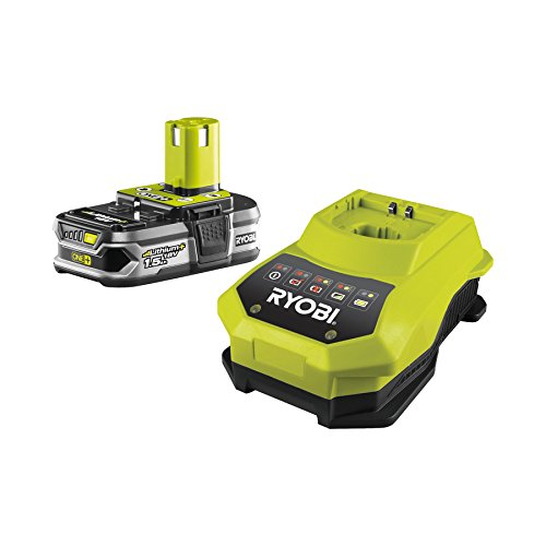 Ryobi RBC18L15 Battery 18 Volt/1.5 Ah Lithium Ion with Charger 60 min