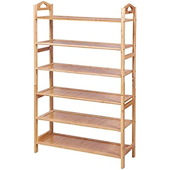 SONGMICS Multi-function 6-Tier Shoe RackHolds 18-24 Pairs  sc 1 st  Amazon.com & Amazon.com: SONGMICS Multi-function 6-Tier Shoe RackHolds 18-24 ...