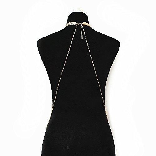 JoJo & Lin Gold Tone Body Chain Adjustable Harness with Fine Chain Multirow Necklace by JoJo & Lin (Image #2)