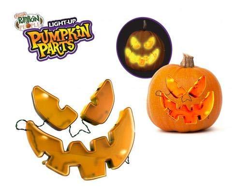 Halloween Light Up Pumpkin Parts, No Mess, No Cutting, No Flames