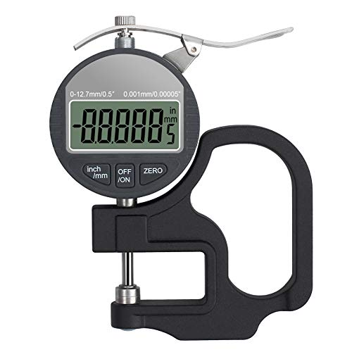 Neoteck Digital Thickness Gauge 0.5 inch/12.7mm, 0.00005