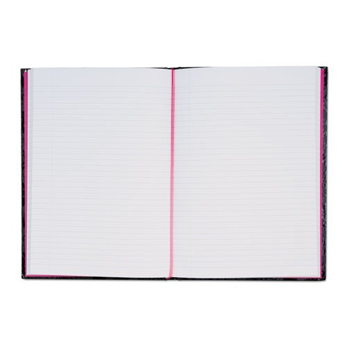 Pink & Black Prof Casebound Notebook, Ruled, 8 1/4 x 11 5/8, 96 Sheets 400015934