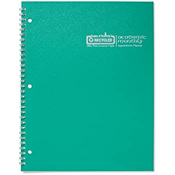 House of Doolittle 2017 - 2018, Planner, Academic, Bright Green, 8.5 x 11 Inches, July - August (HOD26309-18)
