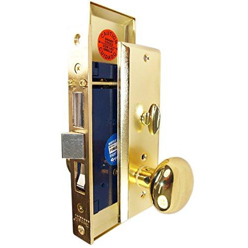 Polished Brass Left Hand Guard Mortise Lockset
