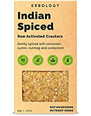 Organic Indian Spiced Crackers 50g (6 x 50g Pack) - Raw - Gluten Free