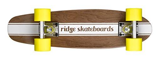 Ridge Skateboards Mini Maple Dark Dye Number 4 Retro Cruiser Skateboard -