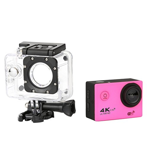 Waterproof 4K F60R Wifi HD 1080P Ultra Sports Action Camera DVR Cam Camcorder Durable Dreamyth (Pink)