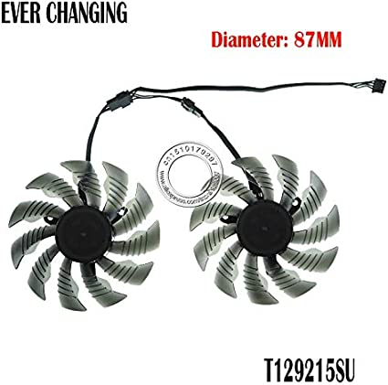Fans & Cooling - 87mm T129215SU PLA09215S12H 4Pin 42mm Cooler Fan For Gigabyte GeForce GTX 960 GTX 950 R9 390 380 Graphics Video Card Cooling Fan (1PCS)