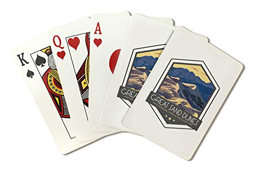 Great Sand Dunes National Park, Colorado - Badge (Playing Card Deck - 52 Card Poker Size with Jokers)