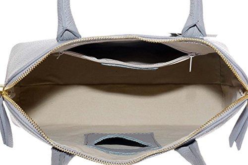 stile in Primo Chiaro protettiva pelle marca italiana bowling una Grab Include mano tracolla Sacchi borsa borsetta Grigio texture custodia o a di Tote 0q0wYrg