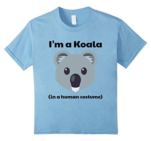 Kids I'm a Koala in a Human Costume T-Shirt 8 Baby Blue (Baby Costume Australia)