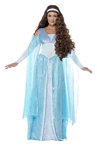 Smiffy's Women's Medieval Maiden Deluxe Costume, Dress and Headpiece, Tales of Old England, Serious Fun, Plus Size 18-20, -