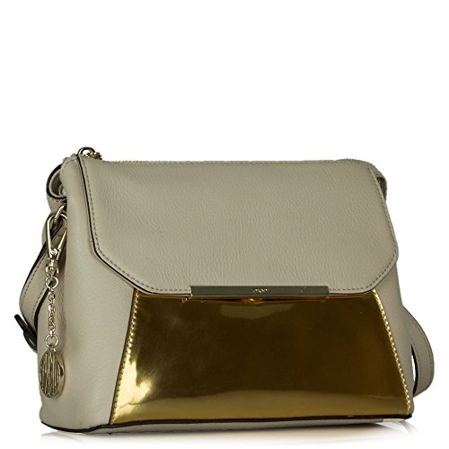 DKNY - Borsa a tracolla donna Beige (Beige Leather)