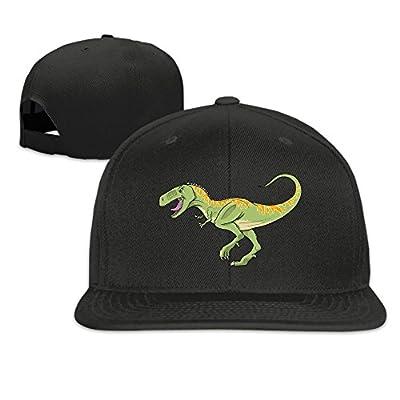 T-Rex Dinosaur Plain Adjustable Snapback Hats Men's Women's Baseball Caps