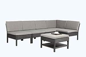 Nirvana Outdoor K55-BL Four Seater Conversational Set, Black