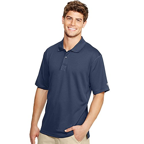 Champion Double Dry Men`s Solid-Color Polo Shirt Navy ()