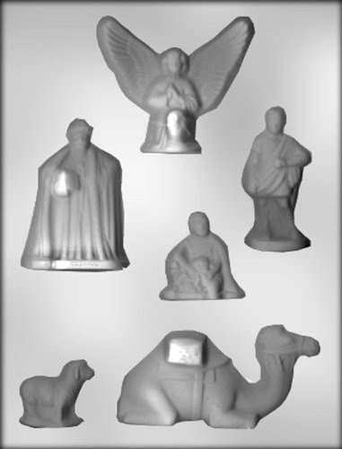 CK Products Wise Men, Camel, Angel, and Sheep Chocolate Mold ()