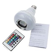 Bsod 50Pcs/lot Bluetooth Wireless LED Music Bulb E27 Bulb Light 3.0 6W 100-240V Music Playing LED RGBW Lighting with 24keys IR Remote Control