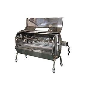 Charotis Charcoal Spit Roaster, 60W Motor, 100% Stainless Steel BBQ rotisserie for Whole Pig, Lamb, Goat – Model SSH1-DX
