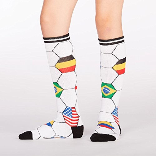 Sock It To Me, Kick It, Junior Knee-High Socks, Futbol, Soccer Country Flag Socks ()