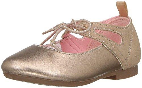 Oshkosh B'Gosh  Girls' Milky Ballet Flat, Rose, 7 M US Toddler
