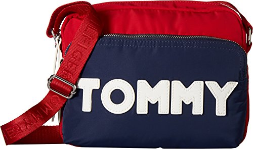 f011b392aaa2 Tommy Hilfiger Women s Tommy Nylon Crossbody Navy Red One Size