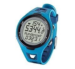 Sigma PC 15.11 - Pulsómetro analógico unisex (contador de caloriás, contador de 50 vueltas, frecuencia cardiáca), Azul, Talla única: Amazon.es: Deportes y aire libre