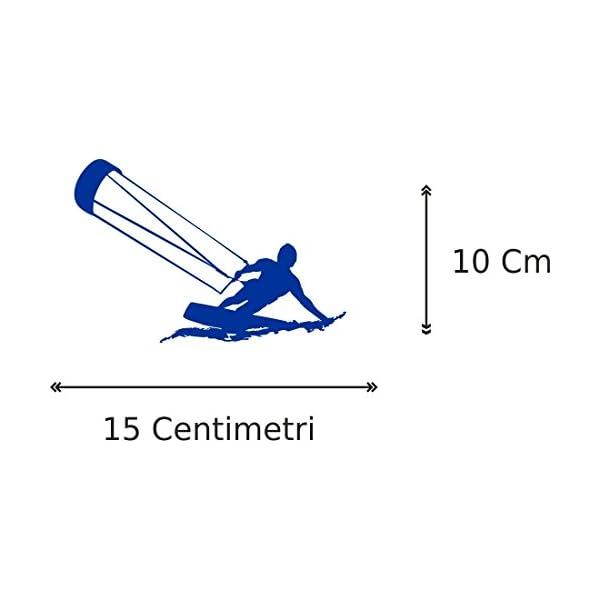 1 ADESIVO PER AUTO - 10x15 centimetri - KITE - KITESUR - KITESURFING - NOVITà!! auto moto camper - accessori surf… 2 spesavip