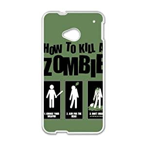How To Kill A Zombie White htc m7 case