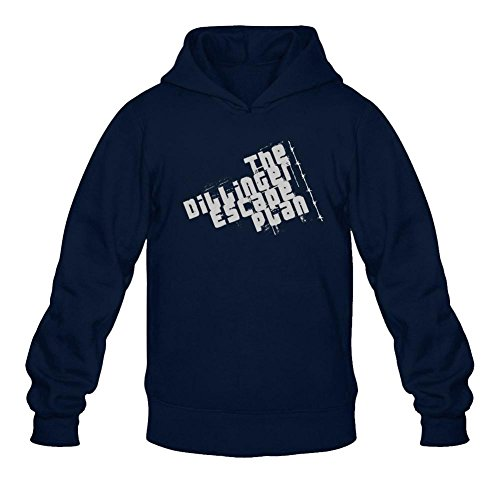 Zippered Ranch - Escape Plan Dillinger Darkness Zippered Logo Long Sleeve Sweatshirts Hoodie Men's Tommery L