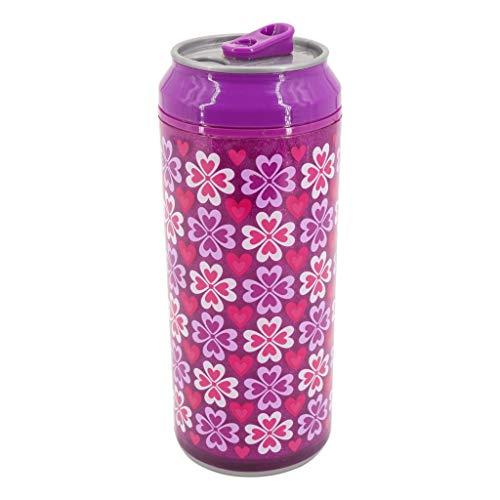 Coolgearcan (16 oz, Purple Heart) Plastic, BPA Free, Double Wall, Twist lid, Spill Proof