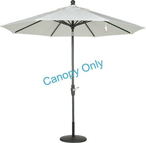 Amauri Outdoor Living The Market Collection Universal Fit Modern 9ft Sunbrella Fabric Replacement Umbrella Canopy, Natural