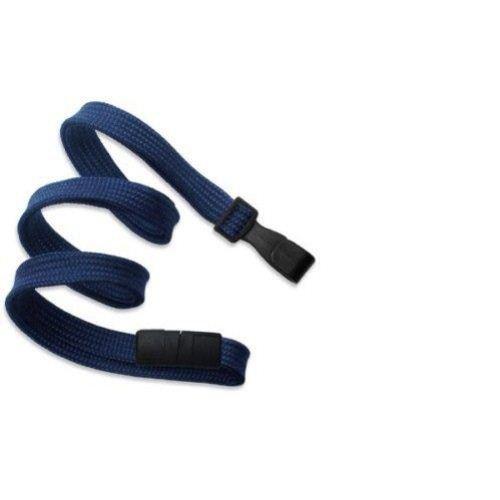 Navy Blue Flat Braid Break-Away Lanyard with Wide Hook - 100pk (Wide Lanyard)