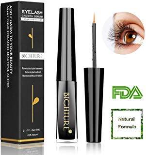 eee296e39d5 Amazon.com: Eyelash Growth Serum, Bighture Natural Eyelash Growth Serum For  Longer and Thicker Eyelash, Fuller and Healthier Eyebrow: Beauty