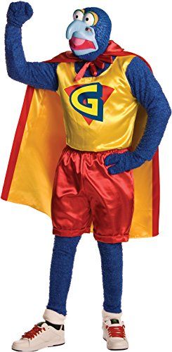 Muppet Animal Mask (Muppets Gonzo Costume, Blue, Standard)