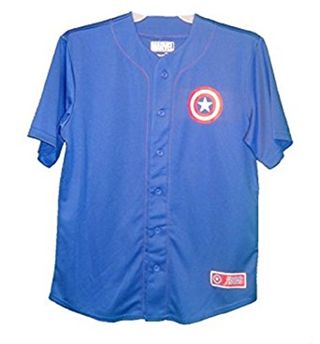 Captain America Men's Baseball Style Jersey Size XL