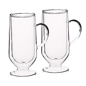Kitchencraft Le 'Xpress KCLXDWLATTE2PC - Vasos de vidrio laminados de doble pared, 2 vasos latte, 325 ml