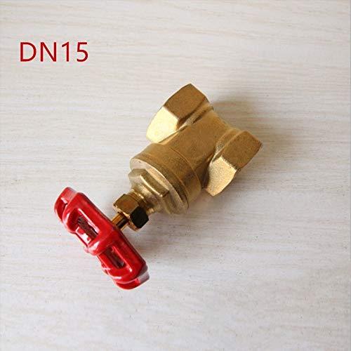 Fincos 1pc Brass Gate Valve DN15 1/2' BSPP Female 5Bar Working Pressure Port - (Specification: DN15, Thread Type: BSP)