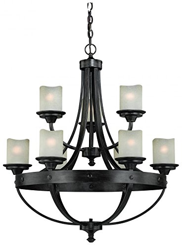 Vaxcel H0158 Halifax 9 Light Chandelier, 30